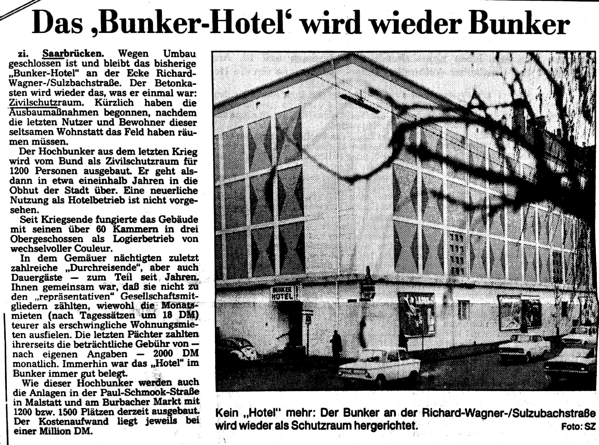 Das Bunkerhotel